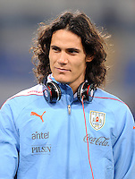 Fussball International, Nationalmannschaft   EURO 2012 Play Off, Qualifikation, Italien - Uruguay      15.11.2011 Edinson Cavani (Uruguay)