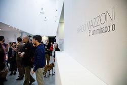 "Marco Mazzoni ""E' un miracolo"" exhibition at EX3 Center for contemporary art in Florence - opening"