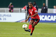 20 October 2014: Liana Hinds (TRI). The Trinidad & Tobago Women's National Team played the Guatemala Women's National Team at RFK Memorial Stadium in Washington, DC in a 2014 CONCACAF Women's Championship Group A game, which serves as a qualifying tournament for the 2015 FIFA Women's World Cup in Canada. Trinidad and Tobago won the game 2-1 to secure advancement to the semifinals.