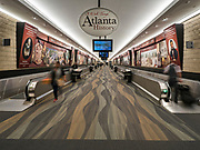 17 FEBRUARY 2020 - ATLANTA, GEORGIA:   Underground walkway between concourses in Atlanta's Hartsfield–Jackson Atlanta International Airport, the world's busiest airport by passenger count.  PHOTO BY JACK KURTZ