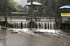 Wellington-Swollen stream floods Khandallah Swimming Pool