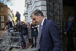 © Licensed to London News Pictures. 14/11/2018. London, UK. Julian Smith - Parliamentary Secretary to the Treasury (Chief Whip) arrives in Downing Street to attend a Brexit Cabinet Meeting. Ministers will discuss, agree and vote on Brexit deal. Photo credit: Dinendra Haria/LNP