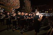 The Marching 110 performs for students at the Yell Like Hell Pep Rally. © Ohio University / Photo by Kaitlin Owens