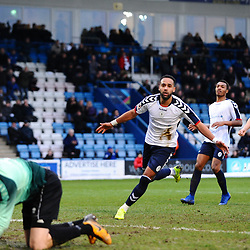 TELFORD COPYRIGHT MIKE SHERIDAN 5/1/2019 - GOAL. Brendon Daniels of AFC Telford scores from the penalty spot to make it 1-0 during the Vanarama Conference North fixture between AFC Telford United and Spennymoor Town.