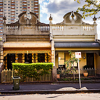 Ornate homes in Melbourne Australia