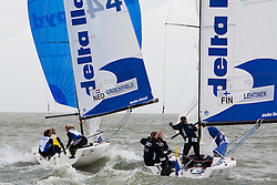 Matchracing final, Groeneveld - Lehtinen. Groeneveld wins 2-1, May 29th, Delta Lloyd Regatta in Medemblik, The Netherlands (26/30 May 2011).