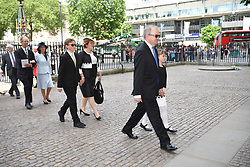 June 15, 2018 - London, London, United Kingdom - Professor Stephen Hawking memorial service. Guests and family members arrive at Westminster Abbey for Professor Stephen Hawking's  memorial service. (Credit Image: © Andrew Parsons/i-Images via ZUMA Press)