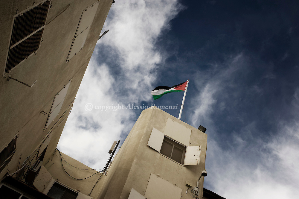 RAMALLAH . This particular view shows a particular angle of  Muqata headquarters in the West Bank city of Ramallah on Decembre 15, 2009..© ALESSIO ROMENZI