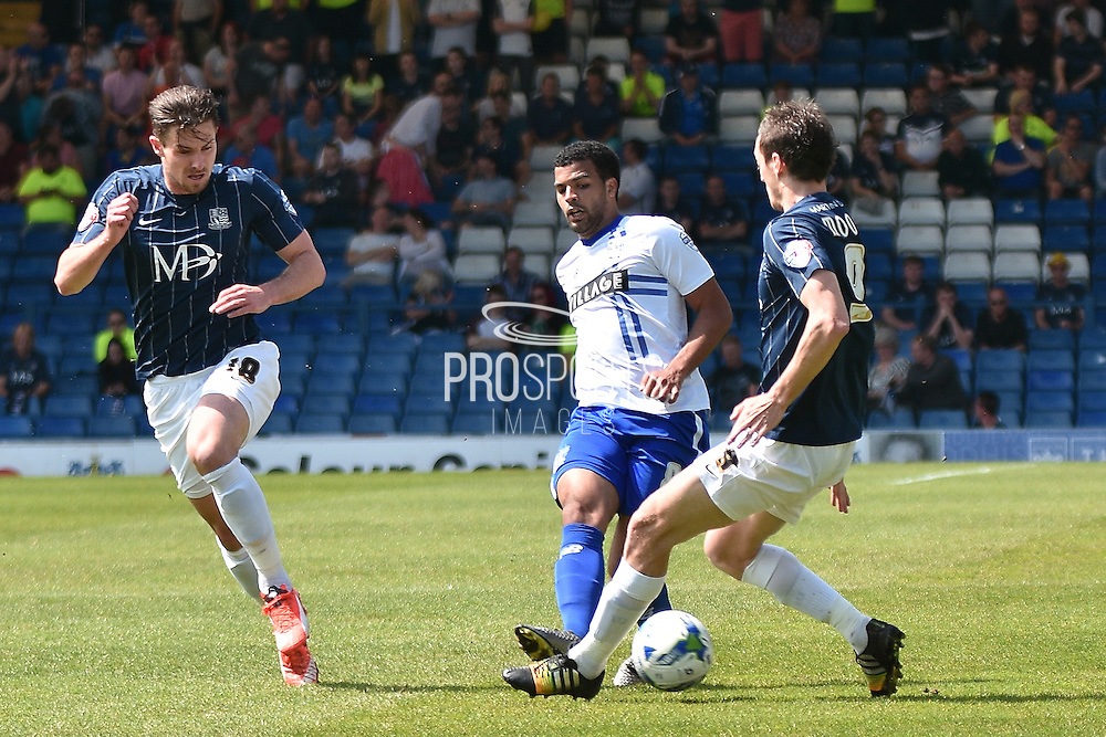 Bury Midfielder, Jacob Mellis on the ball again during the Sky Bet League 1 match between Bury and Southend United at the JD Stadium, Bury, England on 8 May 2016. Photo by Mark Pollitt.