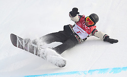 Canada's Sebastien Toutant on his way to gold medal in the Men's Snowboarding Big Air Final at the Alpensia Ski Jumping Centre during day fifteen of the PyeongChang 2018 Winter Olympic Games in South Korea.