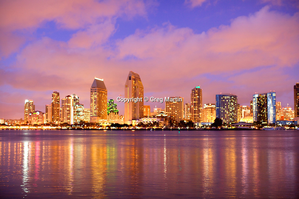 Photo of San Diego from Coronado Island at Centennial Park, California