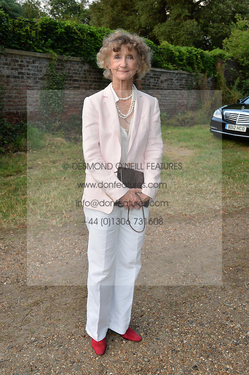 LINDY, MARCHIONESS OF DUFFERIN & AVA attending Annabel Goldsmith's Summer party held at her home in Ham, Surrey on 10th July 2014.