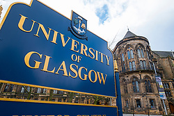 Sign at University of Glasgow, Scotland, United Kingdom