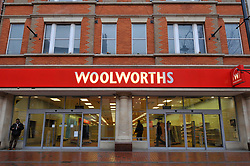 Woolworths finally closed after closing down sale; Reading; Berks Jan 2009 UK