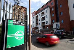 Embargoed to 0001 Saturday April 28 A sign for the Enterprise vehicle rental depot in Salamander Street, Leith, Edinburgh, as the company was the highest rated worldwide vehicle rental firm with 78\% in an annual survey by Which? Travel magazine. Budget firm InterRent car hire has recorded the lowest customer satisfaction rating of any operator in seven years, according to the consumer group.