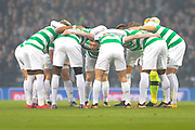 Celtic huddle before the Betfred Scottish Cup final between Motherwell and Celtic at Hampden Park, Glasgow, United Kingdom on 26 November 2017. Photo by Kevin Murray.