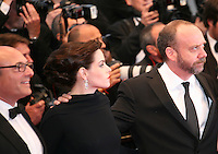 Martin Katz, Emily Hampshire and Paul Giamatti at the Cosmopolis gala screening at the 65th Cannes Film Festival France. Cosmopolis is directed by David Cronenberg and based on the book by writer Don Dellilo.  Friday 25th May 2012 in Cannes Film Festival, France.