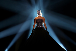May 7, 2018 - Lisbon, Portugal - Singer Elina Nechayeva of Estonia performs during the Dress Rehearsal of the first Semi-Final of the 2018 Eurovision Song Contest, at the Altice Arena in Lisbon, Portugal on May 7, 2018. (Credit Image: © Pedro Fiuza/NurPhoto via ZUMA Press)