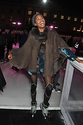 TOLULA ADEYEMI at a Winter Party hosted by Tiffany to celebrate the opening of the Ice Rink at Somerset House for Christmas 2011 held on 21st November 2011.
