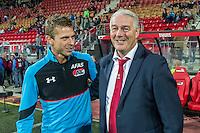 ALKMAAR - 24-09-2016, AZ - Go Ahead Eagles, AFAS Stadion, 2-2, AZ speler Robert Muhren, GA Eagles-trainer Hans de Koning