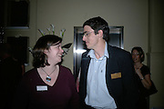 Charlotte Tompkins and David Palmer,  Frommer's UK celebrate the launch of 'with Your family.'  Hosted by the directors of Wiley. Courtrooms 1 & 2. Browns. St. Martins Lane. London. 2 May 2007. -DO NOT ARCHIVE-© Copyright Photograph by Dafydd Jones. 248 Clapham Rd. London SW9 0PZ. Tel 0207 820 0771. www.dafjones.com.