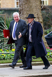 © Licensed to London News Pictures. 27/01/2015. LONDON, UK. Transport Secretary Patrick McLoughlin (L) attending to a cabinet meeting in Downing Street on Tuesday, 27 January 2015. Photo credit: Tolga Akmen/LNP