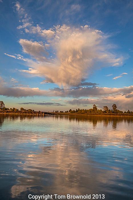 Calm water on Asherst Lake, Anderson Mesa , Arizona