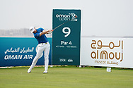 Oliver Fisher (ENG) on the 9th during Round 1 of the Oman Open 2020 at the Al Mouj Golf Club, Muscat, Oman . 27/02/2020<br /> Picture: Golffile | Thos Caffrey<br /> <br /> <br /> All photo usage must carry mandatory copyright credit (© Golffile | Thos Caffrey)