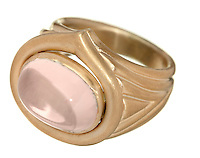 pink and gold custom ring