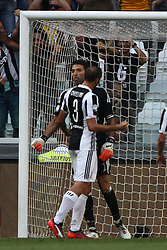 August 19, 2017 - Turin, Italy - Buffon celebrates after the penalty kick saved during the Serie A football match n.1 JUVENTUS - CAGLIARI on 19/08/2017 at the Allianz Stadium in Turin, Italy. (Credit Image: © Matteo Bottanelli/NurPhoto via ZUMA Press)