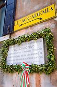 World War II memorial to Luigi Giacopino, Venice, Veneto, Italy