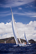 White Wings sailing in the Old Road Race at the 2011 Antigua Classic Yacht Regatta.
