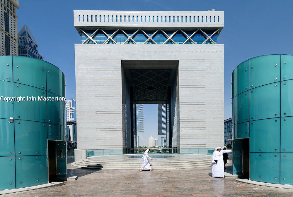 The Gate building in DIFC or Dubai International Financial Center in Dubai United Arab Emirates UAE Mifddle East
