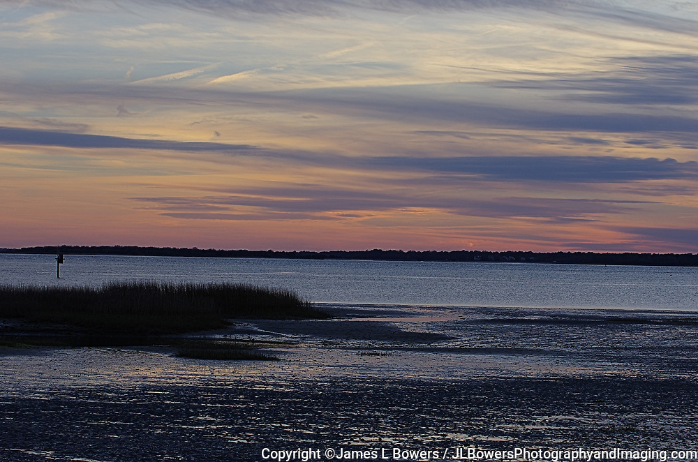 Looking to James Island SC at Sunset