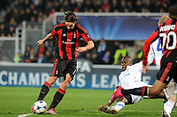 Fotball<br /> Frankrike<br /> Foto: Dppi/Digitalsport<br /> NORWAY ONLY<br /> <br /> FOOTBALL - CHAMPIONS LEAGUE 2010/2011 - GROUP STAGE - GROUP G - AJ AUXERRE v MILAN AC - 23/11/2010 - GOAL ZLATAN IBRAHIMOVIC (MIL)