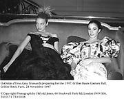 Clothilde d'Urso, Gaia Trussardi<br />Preparing for the 1997 Crillon Haute Couture Ball<br />Crillon Hotel, Paris<br />28 November 1997