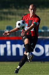 Vladimir Ostojic (4) of Primorje at 6th Round of PrvaLiga Telekom Slovenije between NK Primorje Ajdovscina vs NK Rudar Velenje, on August 24, 2008, in Town stadium in Ajdovscina. Primorje won the match 3:1. (Photo by Vid Ponikvar / Sportal Images)