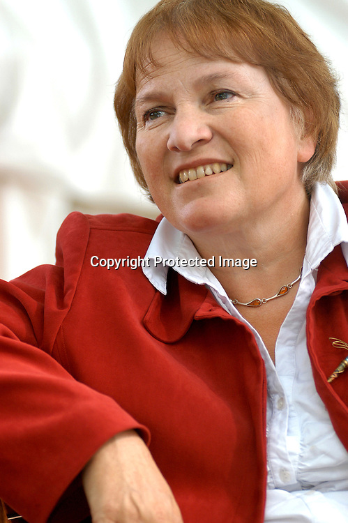 British broadcaster and writer Libby Purves at the Edinburgh International Book Festival 2004.<br /> <br /> Copyright Pascal Saez<br /> Pascal Saez / Writer Pictures