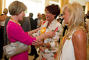 (L) Mary Davis - Director of Europe Eurasia Region Special Olympics & (C) Jolanta Kwasniewska - Former First Lady of Poland & (R) Katarzyna Frank Niemczycka while 2011 Special Olympics World Summer Games Athens on June 25, 2011..The idea of Special Olympics is that, with appropriate motivation and guidance, each person with intellectual disabilities can train, enjoy and benefit from participation in individual and team competitions...Greece, Athens, June 25, 2011...Picture also available in RAW (NEF) or TIFF format on special request...For editorial use only. Any commercial or promotional use requires permission...Mandatory credit: Photo by © Adam Nurkiewicz / Mediasport