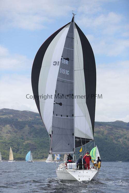 The Silvers Marine Scottish Series 2014, organised by the  Clyde Cruising Club,  celebrates it's 40th anniversary.<br /> Day 2, GBR5151C, Argento, Ken Andrew, CCC, Jeanneau Sunshine 38<br /> Racing on Loch Fyne from 23rd-26th May 2014<br /> <br /> Credit : Marc Turner / PFM