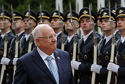 September 27, 2016 - Kiev, Ukraine - President Israel Reuven Rivlin walks past a soldiers of The Honor Guard during his first state visit to Ukraine, September 27, 2016. President of Israel Reuven Rivlin visits Ukraine for the first state visit. (Credit Image: © Sergii Kharchenko/NurPhoto via ZUMA Press)