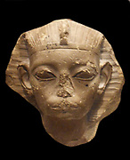 Head of a King, possibly Amememhat IV, Middle Kingdom. 12th Dynasty, ca. 1814–1805 B.C. Egypt, Memphite Region, Lisht North, Pyramid Temple of Amememhat I