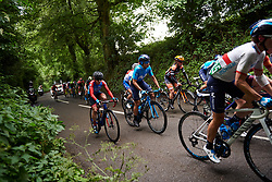 Sheyla Gutierrez Ruiz (ESP) on the first climb at Stage 3 of 2019 OVO Women's Tour, a 145.1 km road race from Henley-on-Thames to Blenheim Palace, United Kingdom on June 12, 2019. Photo by Sean Robinson/velofocus.com