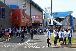 20th August 2017 - Premier League - Huddersfield Town v Newcastle United - Fans mingle outside The John Smith's Stadium - Photo: Simon Stacpoole / Offside.