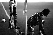 Hoekschop wordt genomen tijdens wedstrijd Beerschot AC
