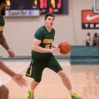 1st year guard Brayden Kuski (15) of the Regina Cougars during the Men's Basketball home game on January 27 at Centre for Kinesiology, Health and Sport. Credit: Arthur Ward/Arthur Images