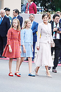 101218 Spanish Royals Attend The National Day Military Parade