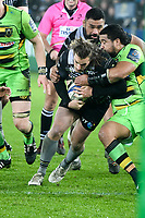 Rugby - 2017 / 2018 European Rugby Champions Cup - Pool Two: Ospreys vs. Northampton Saints<br /> <br /> Jeff Hassler of Ospreys attacks , at the Liberty Stadium.<br /> <br /> COLORSPORT/WINSTON BYNORTH