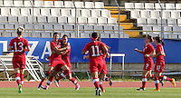 Fifa Womans World Cup Canada 2015 - Preview //<br /> Cyprus Cup 2015 Tournament ( Gsz Stadium Larnaca  - Cyprus ) - <br /> Canada vs South Korea 1-0  //  Christine Sinclair of Canada (12-Middle) , <br /> celebrates with team mates after his Goal (1-0)