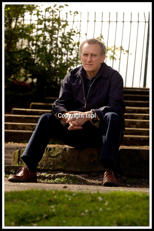 Author James Kelman, photographed in a park near his home in Mayhill, Glasgow. Kelman has a new novel due out shortly ... Pic Donald MacLeod 3.05.04